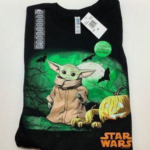 Star Wars Yoda Mandalorian Glows Mens M Halloween